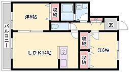 ソシア本荘[2階]の間取り