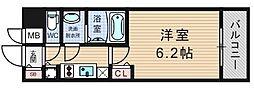 プレサンスOSAKA DOMECITY ワンダー[10階]の間取り