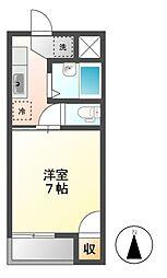 コーポT&T吉田[1階]の間取り