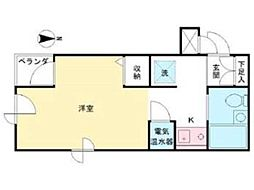 ヤングライフ永山[3階]の間取り