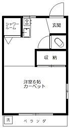 城山マンション[201号室]の間取り