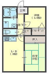 ピュアコート力[2階]の間取り