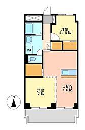 愛知県名古屋市中村区角割町3丁目の賃貸マンションの間取り