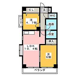 アーデン福江[2階]の間取り