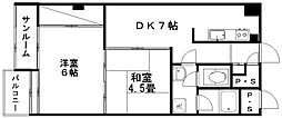 新潟マンション[5階]の間取り