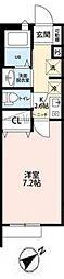サンクレール松戸[202号室号室]の間取り