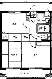 サングリーン藤沢[2階]の間取り