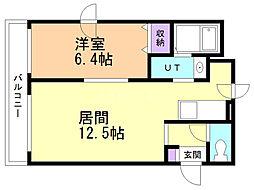 M'Sハウス 3階1LDKの間取り