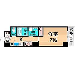 Osaka Metro谷町線 千林大宮駅 徒歩3分の賃貸マンション 8階1Kの間取り