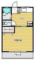 ファミリーコーポ 3階1DKの間取り