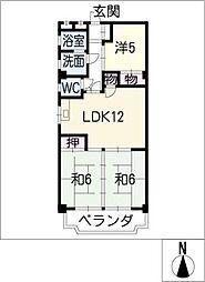 水金ビル[4階]の間取り