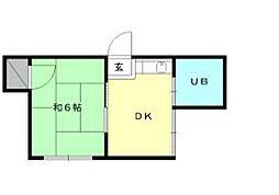 第8三和マンション[402 号室号室]の間取り
