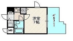 リーガル京橋[6階]の間取り