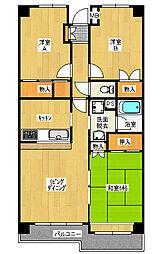 カーサ・フィヨーレ3[1階]の間取り
