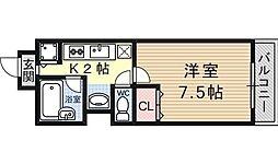 シェリール山崎[206号室号室]の間取り
