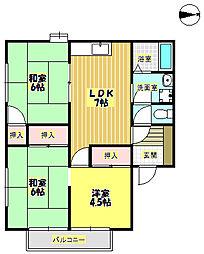 メゾンソシアルB棟[1階]の間取り
