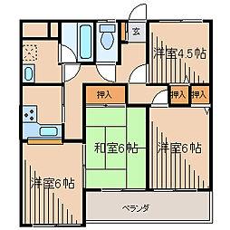 プライムガーデンI[3階]の間取り