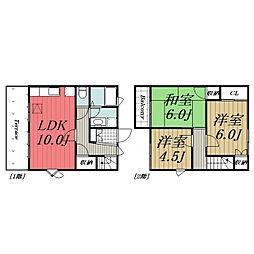 [テラスハウス] 千葉県佐倉市王子台5丁目 の賃貸【千葉県 / 佐倉市】の間取り