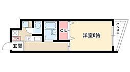 大島マンション廿軒家[2A号室]の間取り