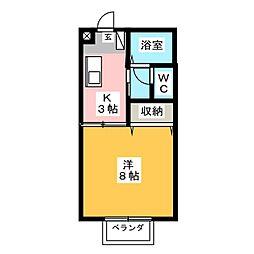 高光ハイツII[1階]の間取り
