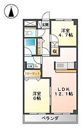 メゾン・ドゥミルI[3階]の間取り