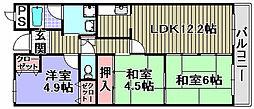 プリムローズ岸和田[303号室]の間取り
