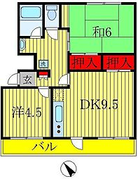 戸ヶ崎第一ニューハイツ[3階]の間取り