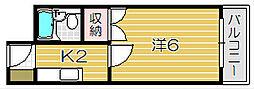 ジュネス総持寺[2階]の間取り