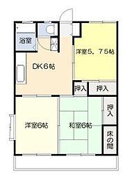 多田コーポK棟[1階]の間取り