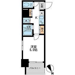 東京都板橋区板橋3丁目の賃貸マンションの間取り