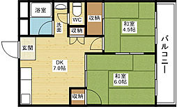 コーポ柴島[4階]の間取り