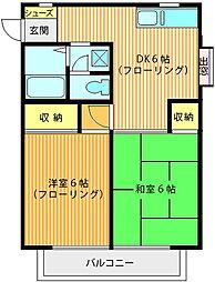 バードハイツ第二[2階]の間取り