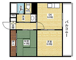 グランドハイツ[4階]の間取り