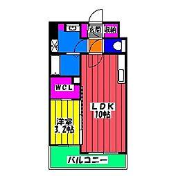 ラフレシーサ博多駅南[12階]の間取り