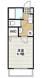 Wing湘南[307号室]の間取り