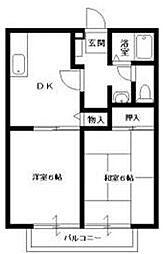 ビーライン平松 A棟[1階]の間取り