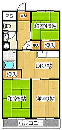 松戸レジデンス[201号室]の間取り