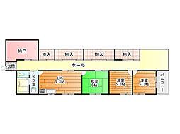センターヴィレッジ[4階]の間取り