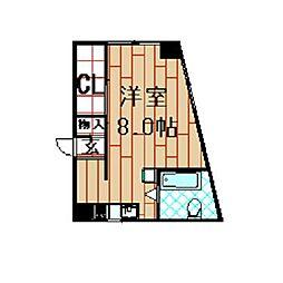 藤正第二マンション[3階]の間取り