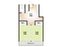 第二高橋アパート[202号室]の間取り