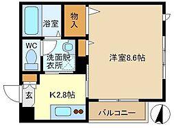 シャリテ・クオーレ 201[2階]の間取り