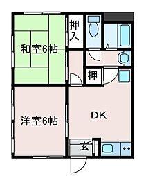 ハイツ・ナガオカ[2階]の間取り