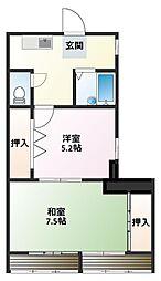 曽根パールマンション[2階]の間取り