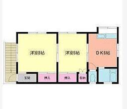 大野アパート[2F号室]の間取り