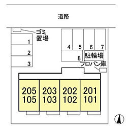 (仮)ウィット北茂呂[102号室]の外観