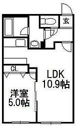 北海道札幌市白石区東札幌二条4の賃貸マンションの間取り