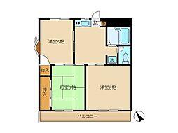 埼玉県さいたま市浦和区領家1丁目の賃貸マンションの間取り
