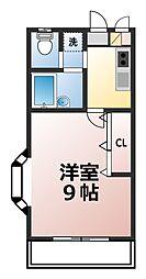 神奈川県厚木市旭町5の賃貸アパートの間取り