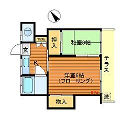 東京都武蔵野市吉祥寺北町1丁目の賃貸アパートの間取り