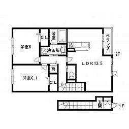 ボナールU[2階]の間取り